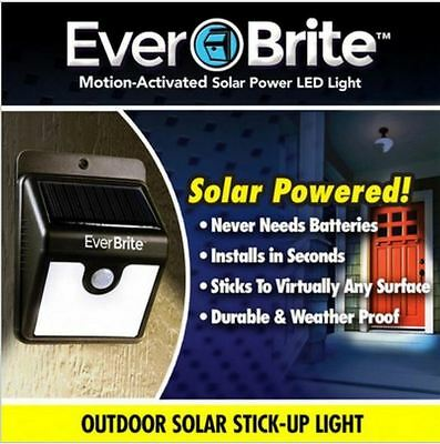 Ever Brite Outdoor Motion Activated Outdoor Solar Power LED Light As Seen On TV