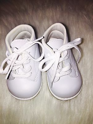 Baby Infant Boy Christening Baptism Church Shoes White Size 3 Wide