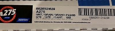 """Norton A275 Sanding Paper  9"""" X 11""""  Sheets, P220B Grit, Package Of 100 Sheets"""