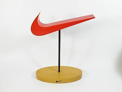 Rare Nike Swoosh Logo Official Store Advertising Display Sign -Made In Usa