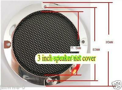 "1pcs 3""inch 95mm Speaker Cover Decorative Circle Metal Mesh Grille Protection"