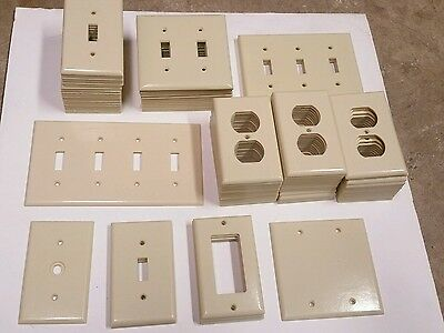 Vintage Bakelite Ivory Light Switch Outlet Plate Cover *LARGE LOT*