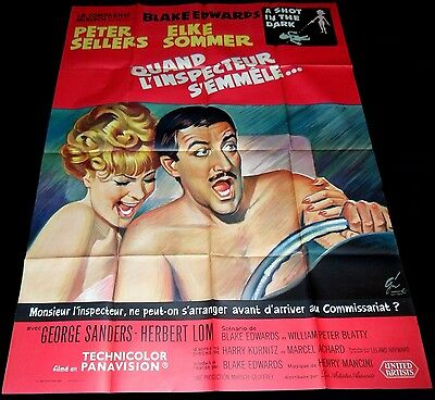 A Shot in the Dark ORIGINAL French POSTER Peter Sellers Elke Sommer Pink Panther