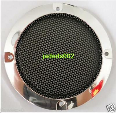 "1pcs 4""inch silver car speaker net cover Speaker grill Decorative circle"
