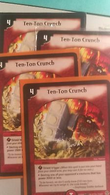 Duel Masters Playset 4x Ten-Ton Crunch Near mint