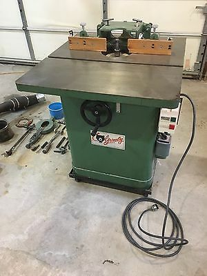 Grizzly 3 Hp single phase Shaper Grizzly  220 volts (good Condition)