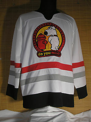 """Official Family Guy Hockey Jersey """"Do You Mind"""" Adult Large Great Condition"""