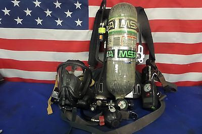 MSA 4.5 High Pressure SCBA Pack 2002 Edition w/ Mask and Bottle