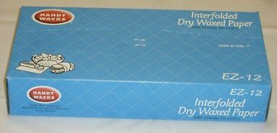 "500 Sheets 12"" x 10.75"" Dry Waxed Paper Pop-Up deli Food Sandwich rap Paper"