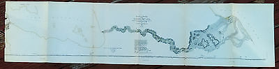 1882 Plan and Profile Survey Map of the Nicaragua Ship Canal