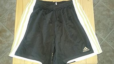 Adidas Climacool Black/Gold StripeGirls/Boys Soccer Athletic Shorts Size US S
