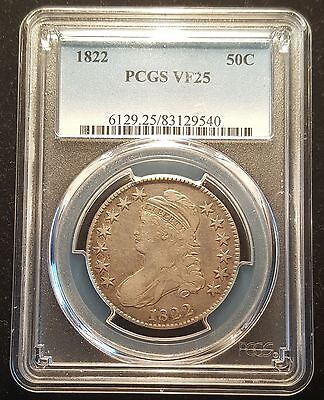 1822 Silver Capped Bust Half Dollar 50c PCGS VF 25 Very Fine
