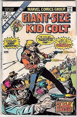 GIANT-SIZE KID COLT #2 (GD/VG) 68 Pages! 1975 Classic Marvel Western Issue