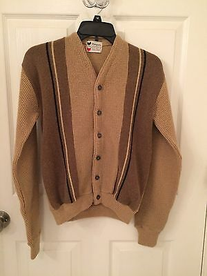 vintage 1950's boy's sweater, Penney's brown wool and poly blend