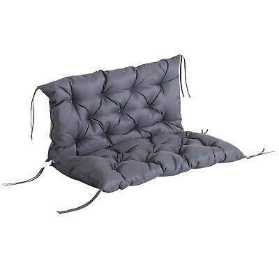 Outsunny 2 Seater Garden Bench Swing Chair Replacement Seat Pad Cushion Backrest