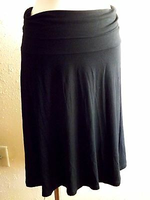 NWT GAP Maternity Size Large Fold Over Black Short Stretch Dress Casual Skirt