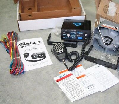 Galls Street Thunder St 240 Amplifier & 100 W Speaker Combo 12 V Pa Air Horn Etc