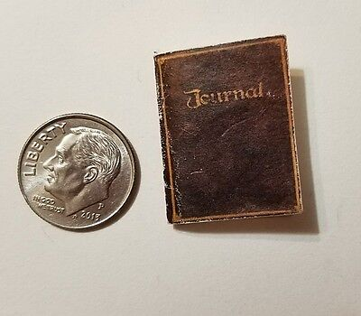 Miniature dollhouse Halloween  Barbie 1/12 Scale old leather Journal