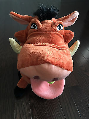Disney The Lion King Pumbaa Plush Toy Chewing Bugs Disney Store Exclusive