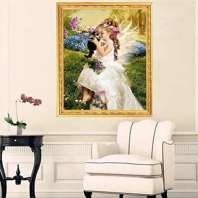 DIY Lovely Cute Girls Pattern Diamond Resin Painting Cross Stitch Painting OK