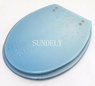 blue Toilet Seat Resin Novelty Toilet Seats with zinc alloy hinges sundely