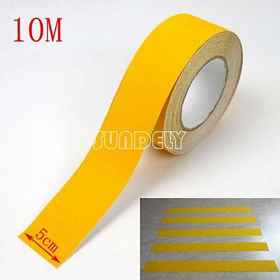 "Sundely 2"" Yellow Anti Slip Tape Stair Tread 33Ft High Grip Self Adhesive Backed"