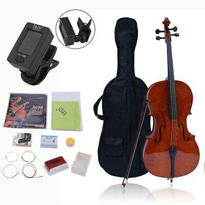 4/4 Size Maple Wood Cello Set for Student Beginners with LESSON BOOK /TUNER UK