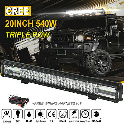 20Inch 540W Cree Led Light Bar Spot Flood Offroad Work Driving Lamp Truck 4WD 22