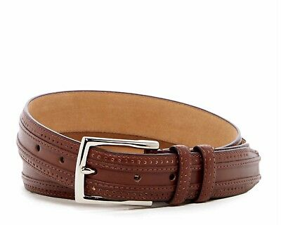 Cole Haan Belt Perforated Leather Belt In Tan Brand New W/Tags