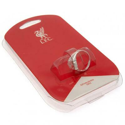 Liverpool Fc Silver Plated Crest Ring S,M,L Size In Black Gift Box New Xmas