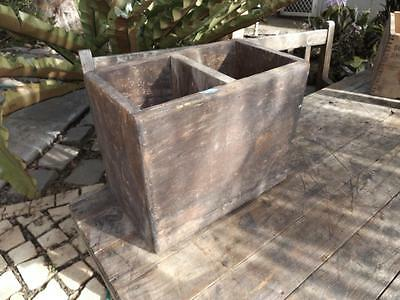 Vintage Wooden Box Old Timber Crate Industrial Storage