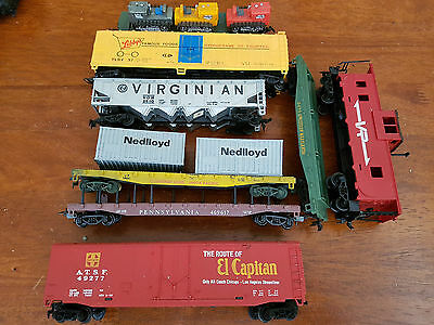 Various Us Style Freight Cars X 8 As Shown Good Condition Unboxed Ho Gauge (Bl)