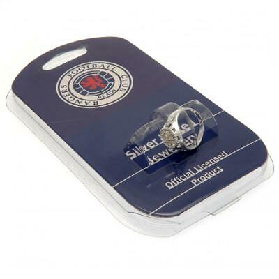 Glasgow Rangers Fc Silver Plated Crest Ring S,M,L Size In Black Gift Box  Xmas