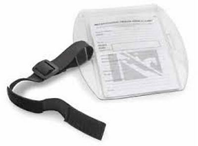equestrian horse riding medical armband with british eventing medical card