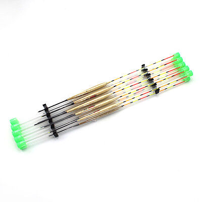 10Pcs Wooden Fishing Tackle Tools Accessories Floats LED Fishing Float New