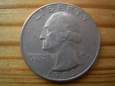 1983p  usa $1/4  quarter  dollar coin collectable