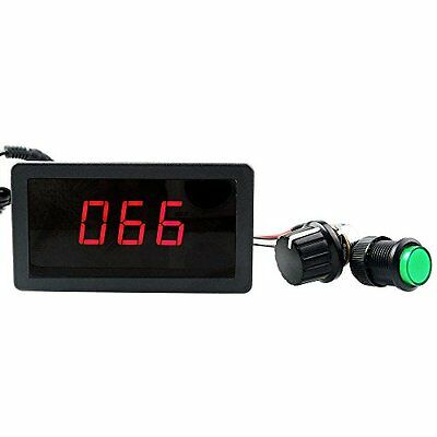 Black Digital Display LED DC Motor Speed Controller PWM Stepless Speed Control