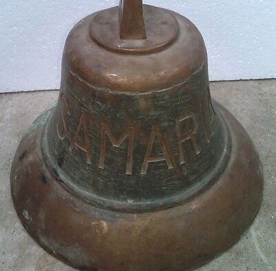 Vintage Antique Marine Ship Brass Bell From Vessel - Samaria 2000 - Beautiful