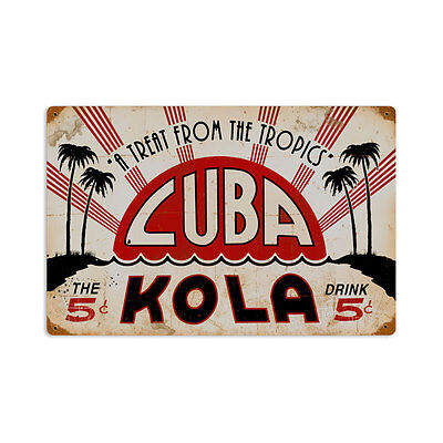 CUBA COLA Schild 45,7cm! Blech Metall Bar Pup Cafe Motel Drive In retro Bistro