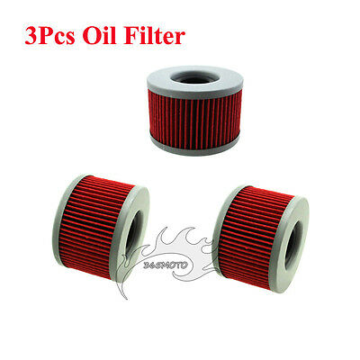 3x Oil Filter For Honda CB250 CB350S CB400 CB450SC CB450DXK CB500T CBX400 CBX550