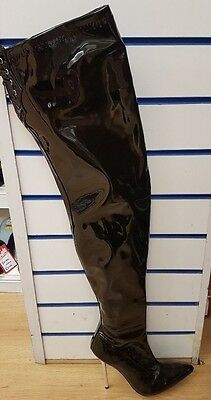 Women's Thigh High Patent Boots Sizes 9, 10 & 11