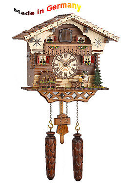 Quartz Cuckoo clock, 12 Melodies, moving figures, Made in Germany, Black  forest