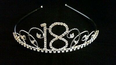 18th Birthday Party Diamante Crystal Tiara