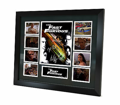 Fast and Furious Signed Photo Movie Memorabilia Limited Edition - B