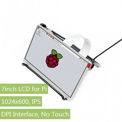 Waveshare 1024x600 7inch IPS Display for Raspberry Pi DPI interface no Touch