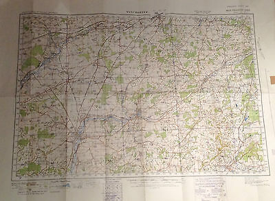 Winchester Large Vintage OS Map Sheet 123 War Revision 1940 - VGC