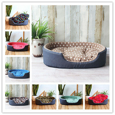Pet Kennel House Warm Dog Bed Cat Cushion Mat Sofa for Big Dogs Labrador 4 Size