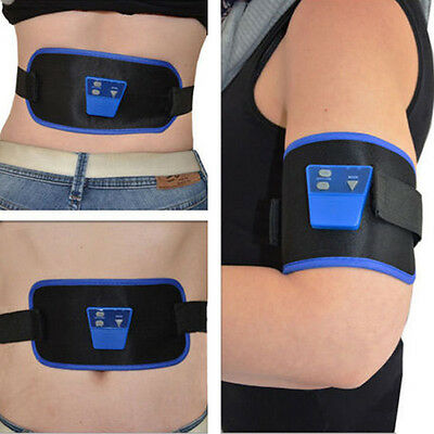 Belt Muscle Toning Abs Body Abdominal Fitness Waist Pack Slimming Fit Ab Six Gym