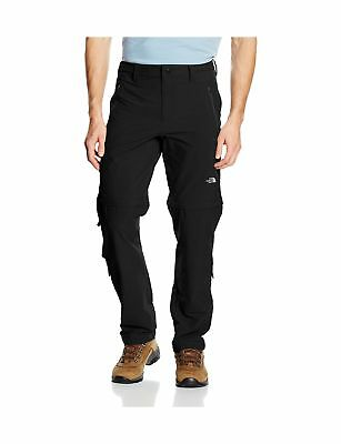 The North Face Men's Exploration Convertible Regular Pants Black/TNF Black -
