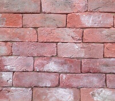 Old Reclaimed Farmhouse brick slips, Brick cladding, brick tiles,  SAMPLE